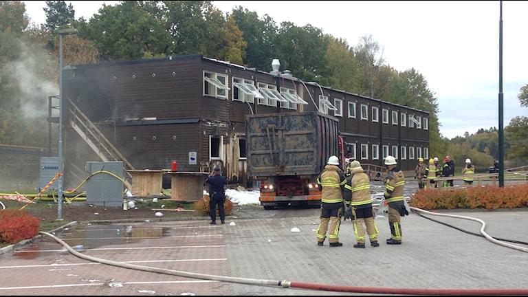 Brand på modulboende i Fagersjö