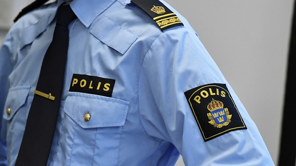 En man i polisuniform. Arkivbild.