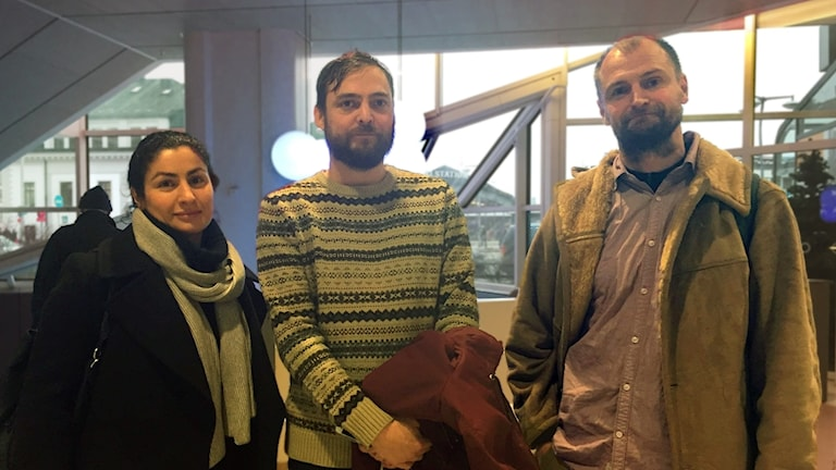 Halva styrkan i IB:s ledning: Susan Salimi, Andreas Bjunér och grundaren Pelle Friman.