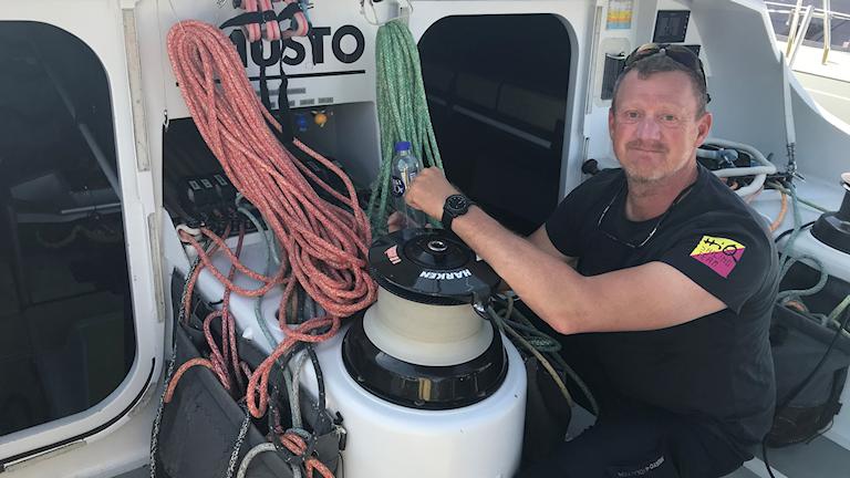 Pelle Norberg, projektledare för HiQ sailing team