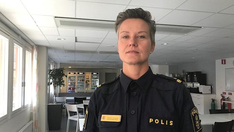 Therese Skoglund Shekarabi, som är kommunpolis i Rinkeby