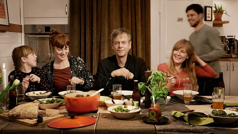 Mats-Eric Nilsson med familj.