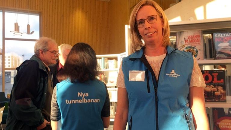 Anna Nylén, projektchef för nya tunnelbanan till Barkarby på Stockholms läns landsting.