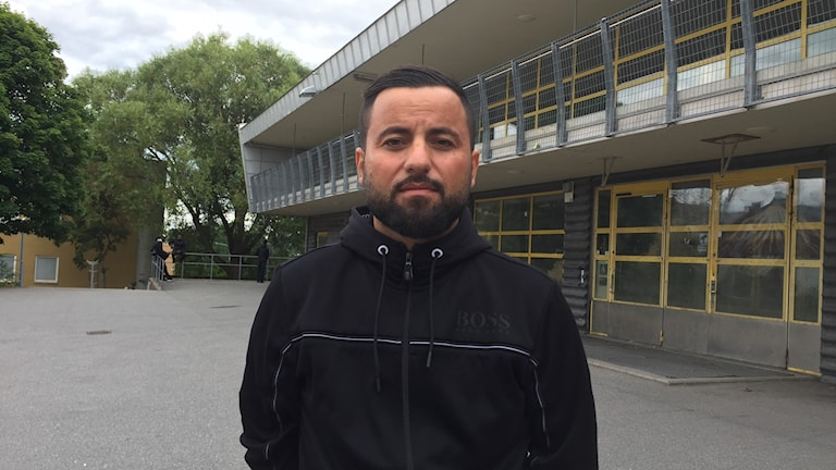 Ungdomscoach Garip Gunes vid Rinkeby Ungdomens Hus