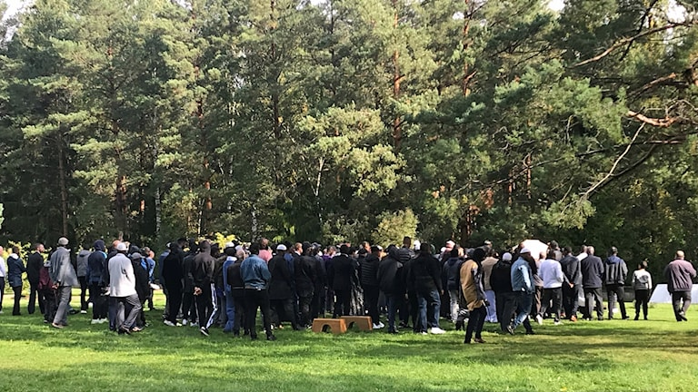Bild på begravningsceremoni