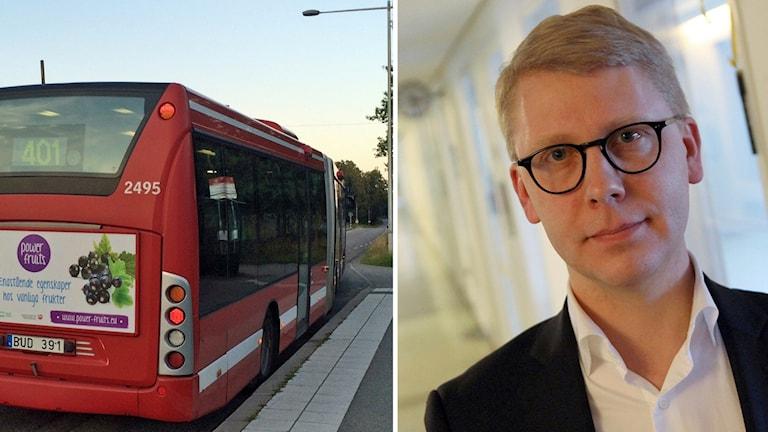 Kristoffer Tamsons och en buss.