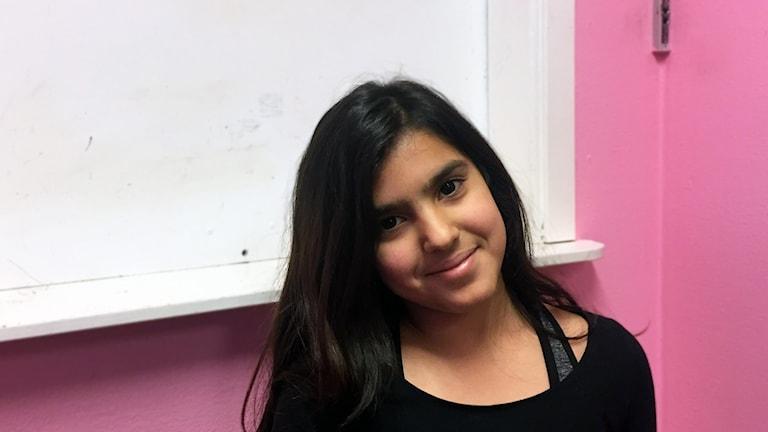 Rahma Yasin,11, på Rösberga fritidsgård i Södertälje.