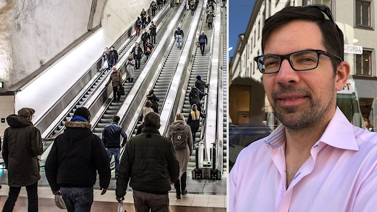 Marcus Lüttgen såg med egna ögon hur en rulltrappa på Stockholm City började skena bakåt.