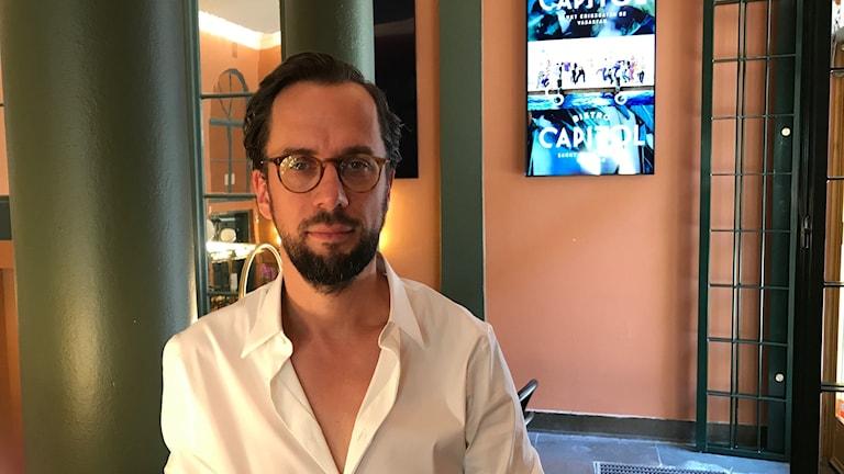 Jakob Abrahamsson, vd på biografen Capitol
