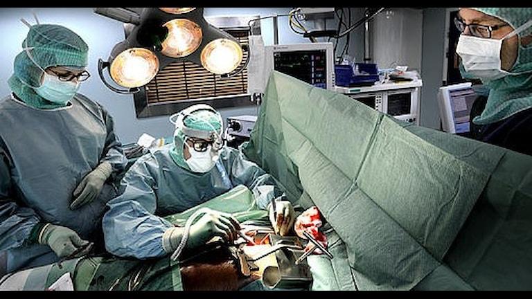 Bypassoperation vid Danderyds sjukhus.