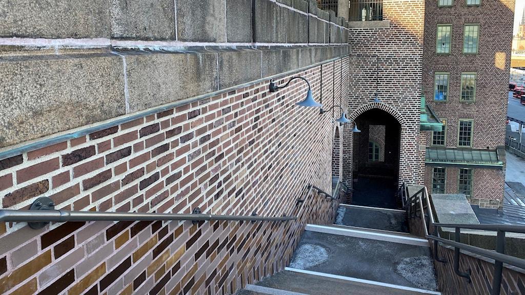 en trappa som leder ned för katarinaberget