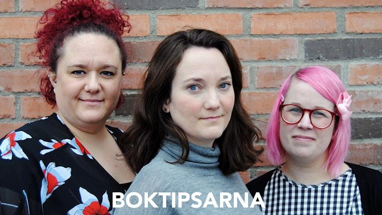 Tre bibliotekarier från Lidingö stadsbibliotek