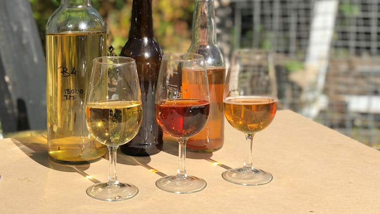 Tre glas med cider
