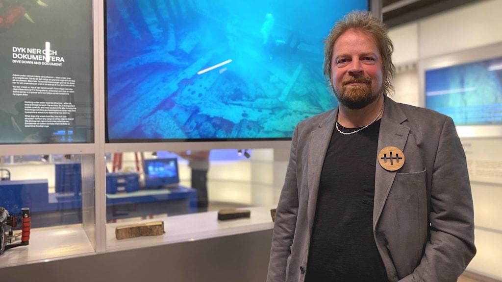 Jim Hansson, marinarkeolog på Vrak - Museum of wrecks.