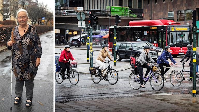 Lillemor Högselius, ordförande Synskadades riksförbund Stockholm och cyklister