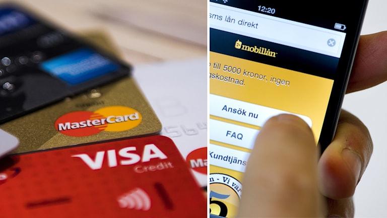 Bankkort och sms-lån