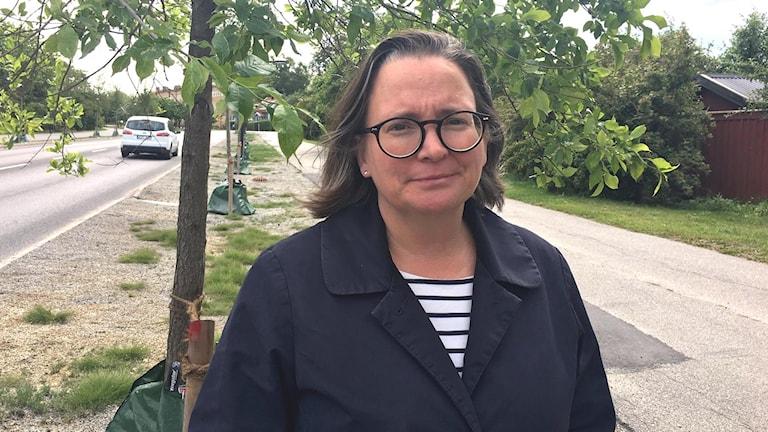 Britt-Marie Alvem, trädspecialist på trafikkontoret.