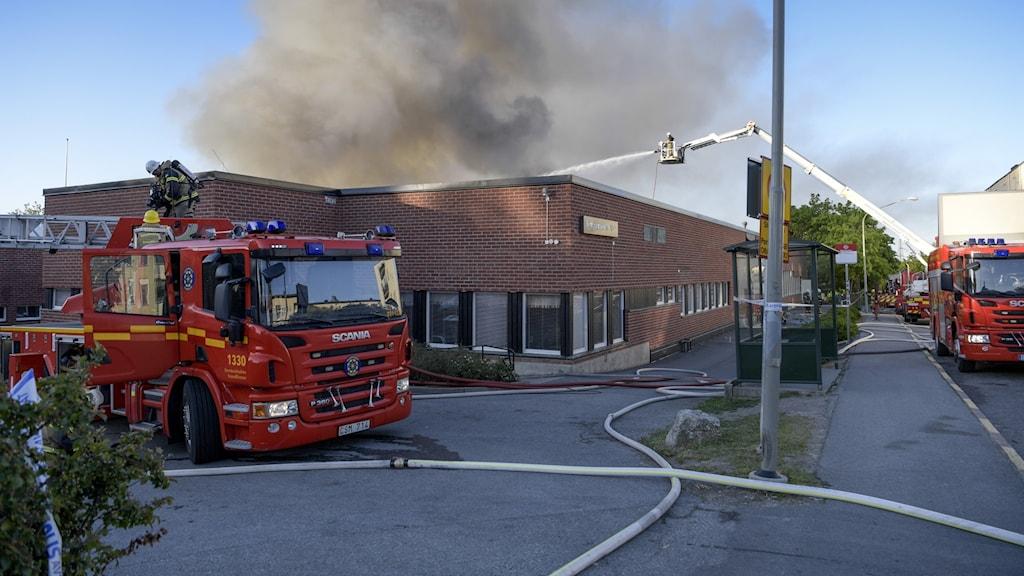I början av juni eldhärjades stora delar av Slättgårdsskolan i en brand som polisen misstänker vara anlagd.