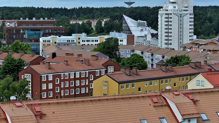 Stationsområdet i Upplands Väsby.