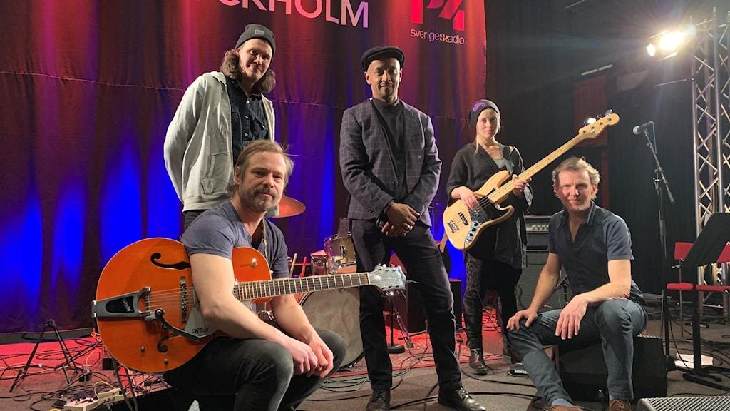 Daniel Lemma med sitt band på Musikplats Stockholm.