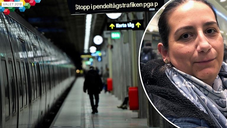 Trafik tågstopp Vildane Hyseni