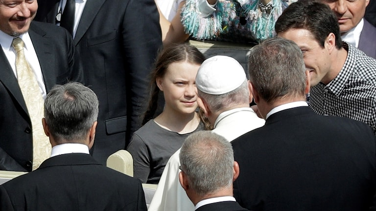 Greta Thunberg möter Påven
