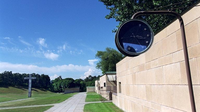 Urnan stals från Skogskyrkogården i somras (arkivbild).