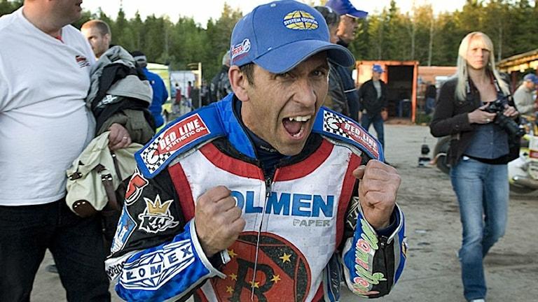 Speedwaystjärnan Greg Hancock.