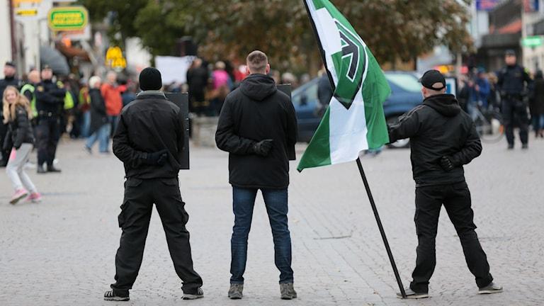 Nordiska motståndsrörelsen, i Visby.
