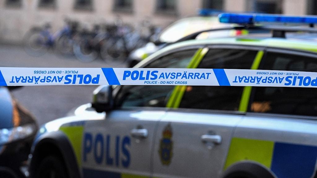 Polisavspärrning.