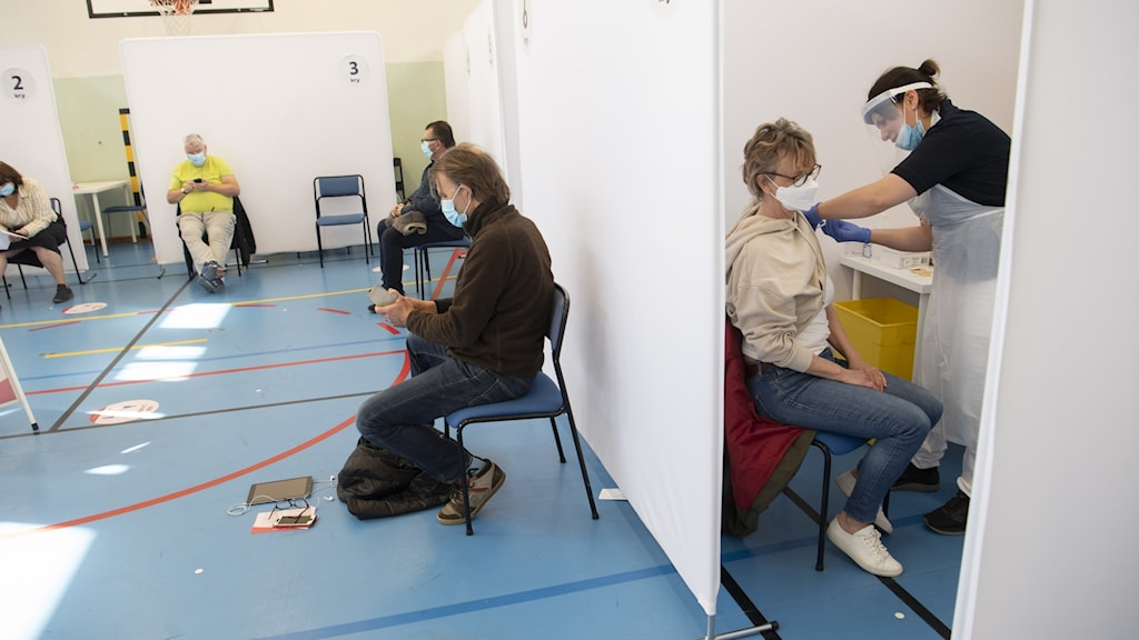 Vaccinering i en lokal.