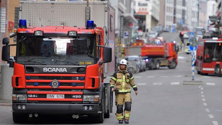 Under brandförsvarets insats efter terrorattentatet i Stockholm krånglade radiosystemet Rakel (arkivbild).