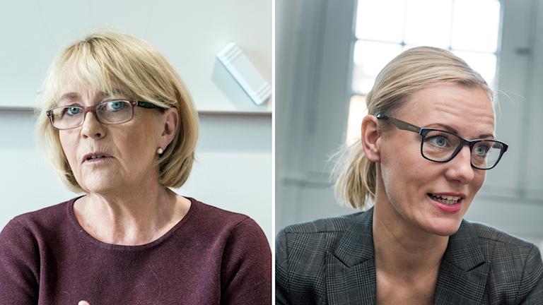 Irene Svenonius (M) och Erika Ullberg (S)