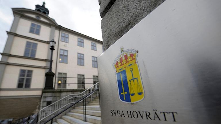 Svea hovrätt på Riddarholmen i Stockholm (arkivbild).