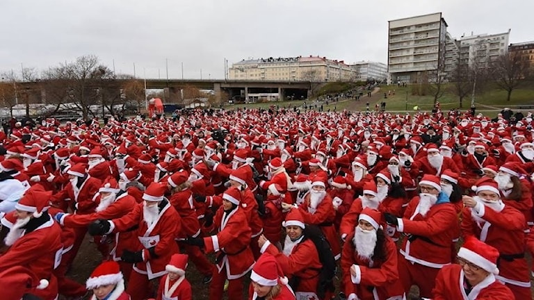 Välgörnhetsloppet Stockholms Santa Run 11 dec.