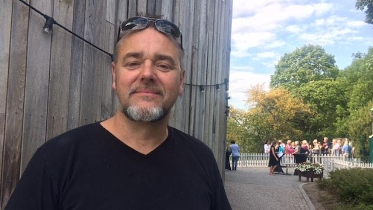 Jack Vreeswijk inför Allsång på Skansen.