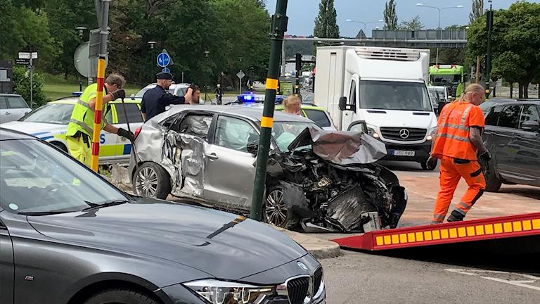 Trafikolycka Roslagstull