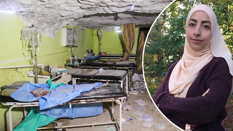 Israa Abdali och sjukhus i Syrien