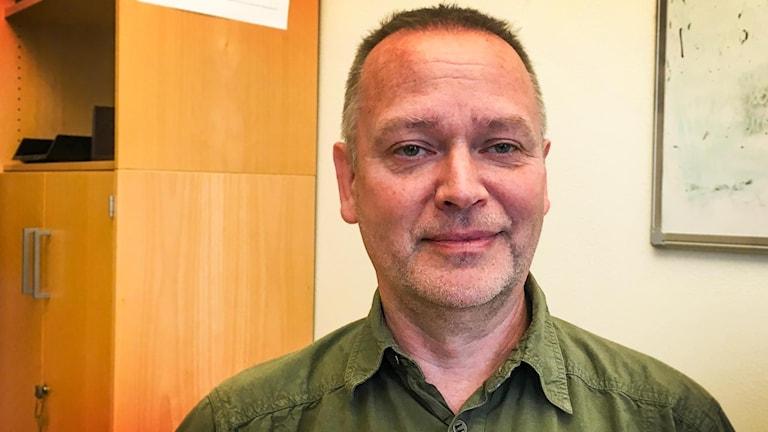 Jerk Wiberg, gruppchef för polisens inre utlänningskontroll i region Stockholm.