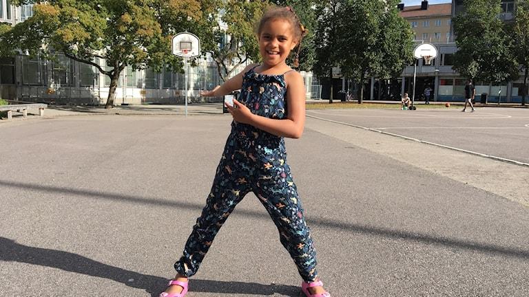 Åttaåriga Adina vill ha barnfestival på Söder