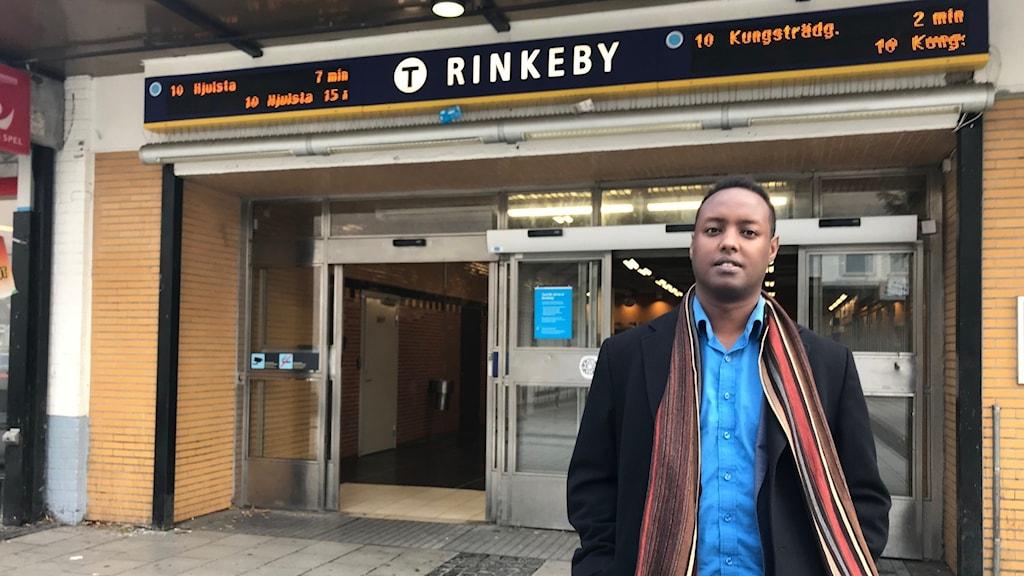 Ahmed Abdirahman från Stockholms Handelskammare.