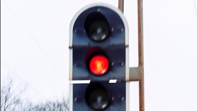 Stoppsignal för tåg (arkivbild).
