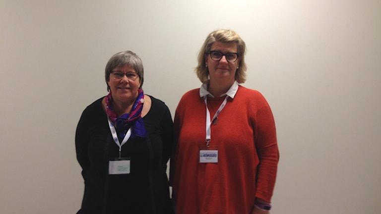 Eva Håkansson och Jane Stegring från Vårdförbundet.