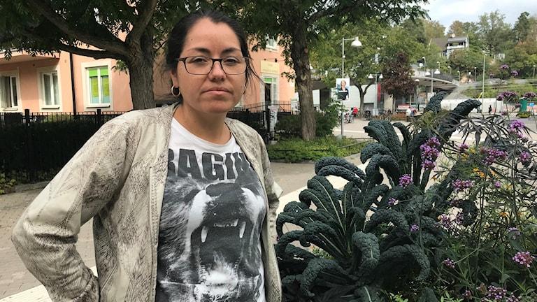 Macarena de la Cerda, talesperson för Förorten mot våld
