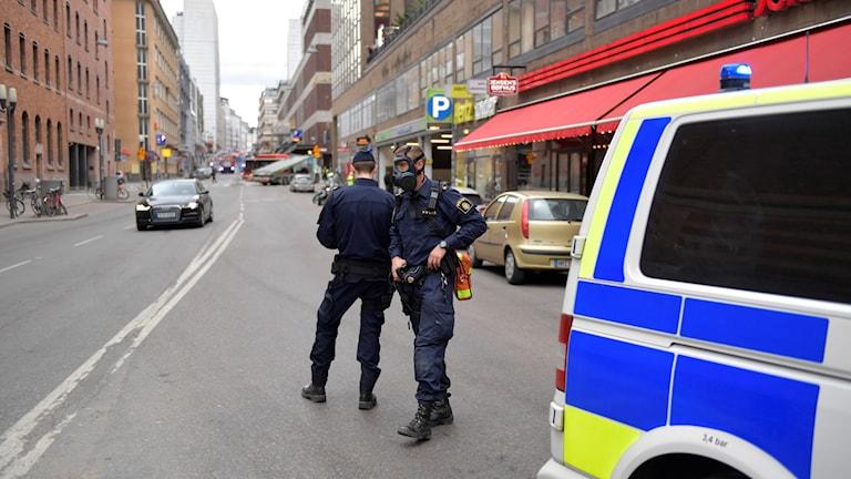 Polisen vid terrorattacken