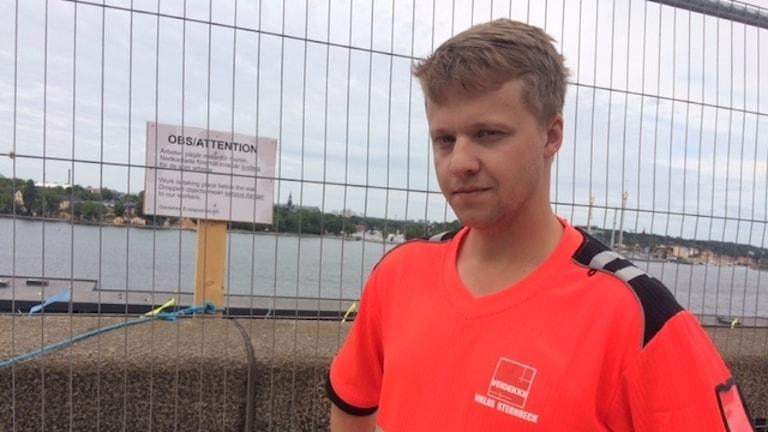 Niklas Sternbeck, tillförordnad platschef vid Slussenbygget.