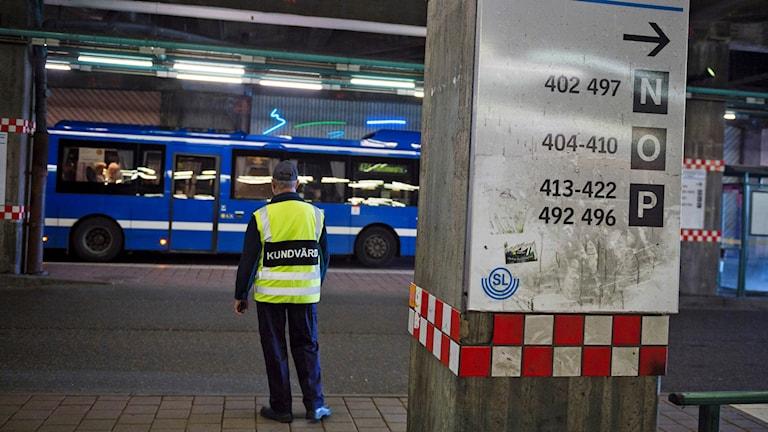 Buss vid Slussen
