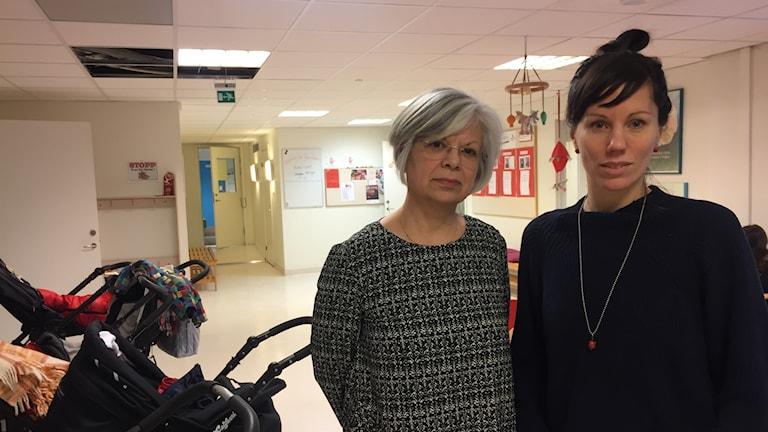Marcela Puga och Annika Öhlin.