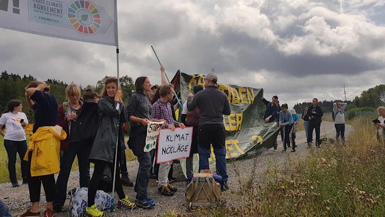 Arlanda flygprotester Flyglarm Arlanda