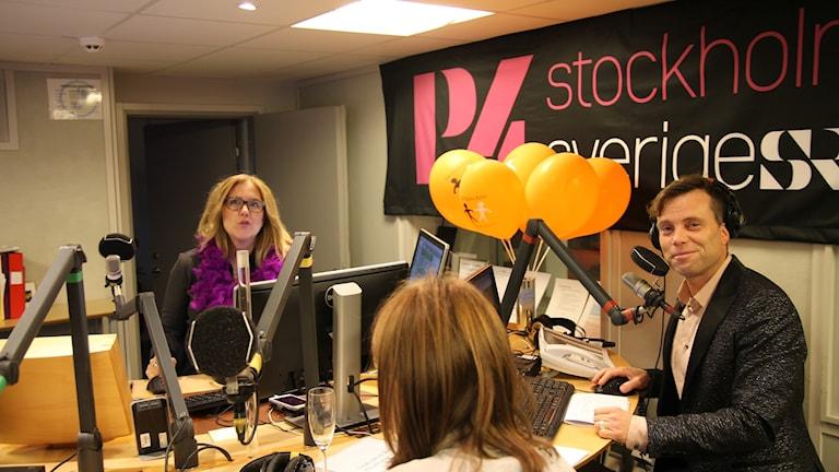 Mia och Henrik i studio 62.